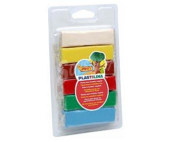 Jovi Caja con 6 barras de plastilina de origen vegetal y de diferentes colores fluorescentes 1 unidad