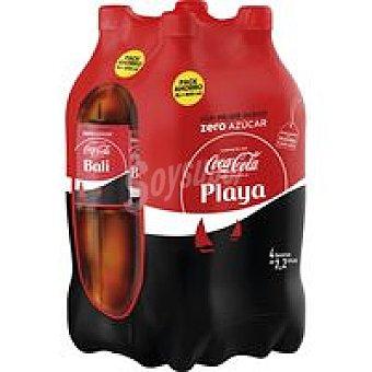 Coca-Cola Zero Refresco de cola pack 4x2,2 litros
