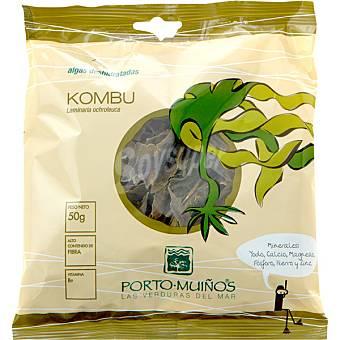 Porto Muiños Algas deshidratadas kombu de azúcar Bolsa 50 g