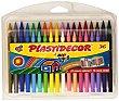 Caja de 36 ceras plásticas Plastidecir de diferentes colores, que no manchan y se les puede sacar punta 36 unidades Bic