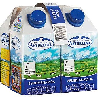 Central Lechera Asturiana Leche Semi x0.5 Pack 4