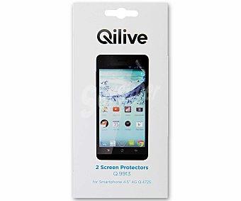 QILIVE Q.9913 Set de 2 protectores de pantalla para Qilive 4.5 (modelo Q.4725) (teléfono no incluido)
