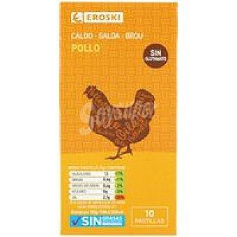 Eroski Caldo de pollo natural caja 100 g