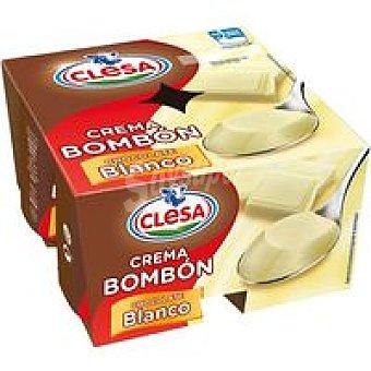 Clesa Crema bombón blanco Pack 4 x 125 g