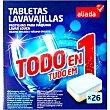 Detergente lavavajillas todo en 1 caja 26 pastillas Aliada
