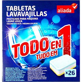 Aliada Detergente lavavajillas todo en 1 caja 26 pastillas