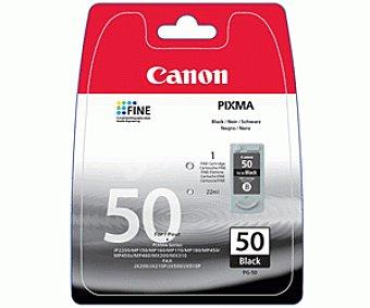 Canon Cartucho de tinta PG-50 Negro, compatible con impresoras: pixma iP6210, iP6220, iP6310, MP150, MP160, MP170, MP180, MP450, MP460, MX300, MX310