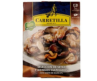 Carretilla Selección de setas-hongos Bandeja 200 g