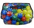 Bolsa con bolas de colores de plástico de 65mm. EURASPA.  Euraspa