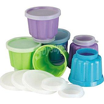 IBILI Molde de plastico para gelatina juego de 6 unidades 6 unidades