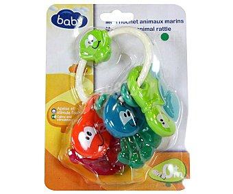 Mordedor-Sonajero de Animales del mar baby 1 unidad