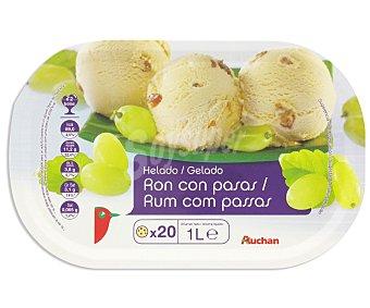 Auchan Tarrina Helado de Ron Con Pasas 1L