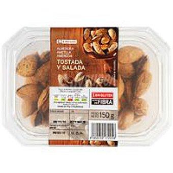 Eroski Almendra con cáscara tostada-salada Tarrina 150 g