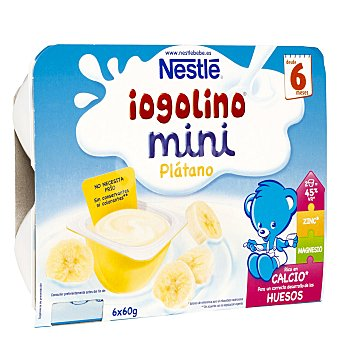 Iogolino Nestlé Mini postre lácteo con plátano Pack 6x60 g (estuche 360 g)