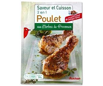 Auchan Bolsa para asar pollo con condimento a las hierbas Provenzal 34 Gramos