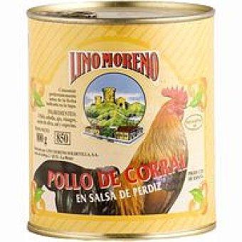 Lino Moreno Pollo de corral en salsa Frasco 600 g