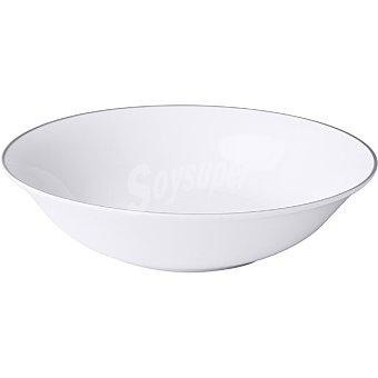 Unit Viena ensaladera 23 cm color blanco filo plata