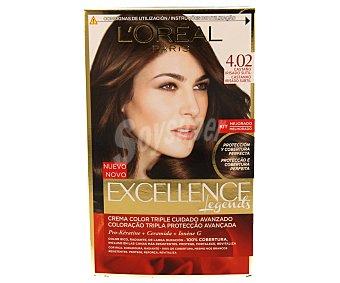 L'Oréal Paris Tinte castaño irisado sutil Nº 4.02 Excellence  1 unidad