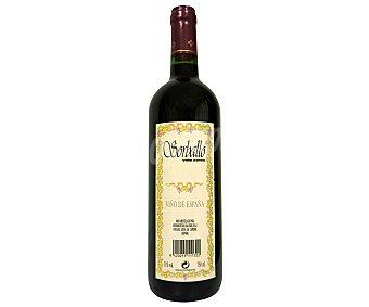 Sorballo Vino Tinto Joven Botella de 75 Centilitros