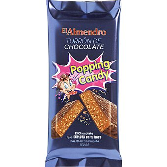 El Almendro Turrón de chocolate Popping Candy Tableta 150 g