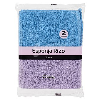 Deliplus Esponja baño rizo Pack de 2 unid