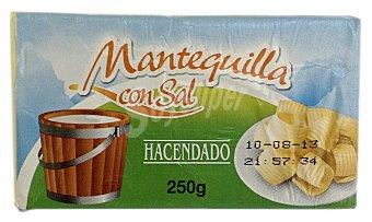 Hacendado Mantequilla con sal Pastilla 250 g