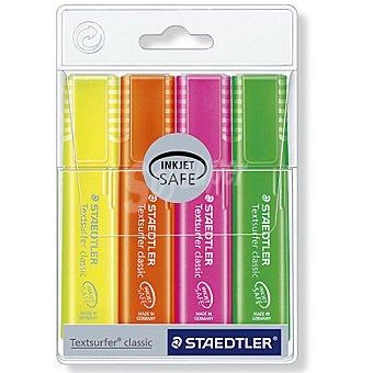 STAEDTLER Textsurfer Classic Pack de 4 fluorescentes en colores variados Pack de 4