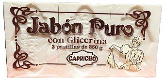 Capricho Jabón ropa mano pastilla 3 unidades de 250 g (750 g)
