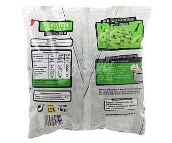 Auchan Judías verdes planas troceadas Bolsa de 1 kilogramo