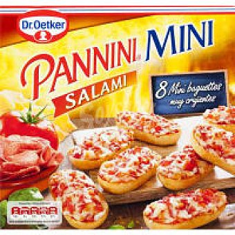 Dr. Oetker Paninis mini de salami Caja 200 g