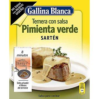 Gallina Blanca Ternera con salsa pimienta verde sartén Sobre 50 g