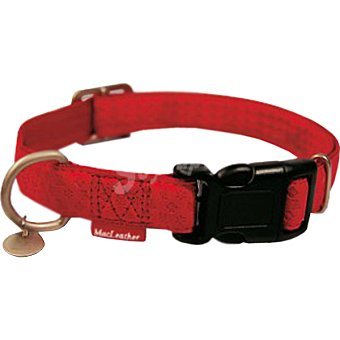 Nayeco Coleccion Macleather collar para perro color rojo medidas 26-40 cm x 15 cm 1 unidad