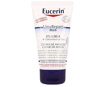 Eucerin Repair crema de manos con lactato y con un 5% de urea para pieles muy secas y ásperas Tubo 75 ml