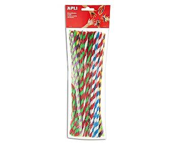 APLI Bolsa de 50 limpiapipas, palitos de alambre recubiertos para hacer figuras, colores 1 unidad