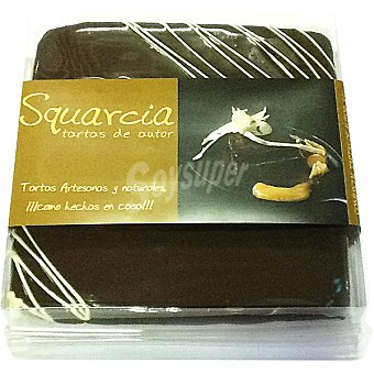 SQUARCIA TARTAS DE AUTOR Tarta artesanal de chocolate negro rellena de crema de chocolate blanco y albaricoqu  Pieza 900 g