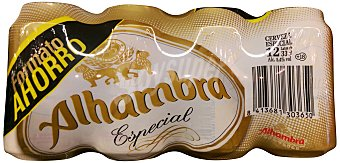Alhambra Cerveza rubia especial Lata pack 12x330 ml