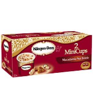 Häagen-Dazs Helado de macadamia pack de 2x100 ml