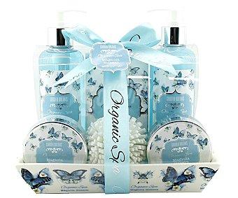 Becasan Bandeja para baño y cuidado corporal con productos con aroma a Magnolia BECASAN.