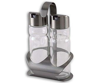 MONIX Conjunto de vinagrera y aceitera modelo Sabor, fabricada en vidrio con tapas de acero inoxidable 1 Unidad