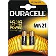 Pila alcalina MN21 seguridad 12 voltios blister 2 unidades Duracell