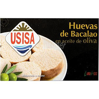 Usisa Huevas de bacalao en aceite de oliva Lata 73 g neto escurrido