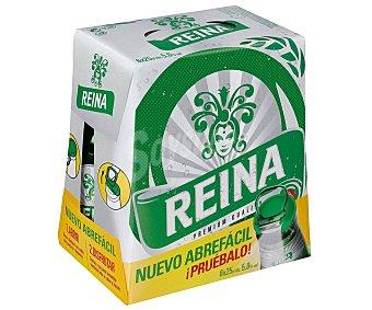 Reina Cerveza premium Pack 6 botellines x 25 cl