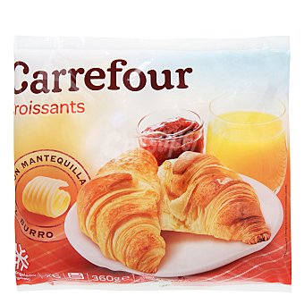 Carrefour Croissants con mantequilla Pack 6x60 g