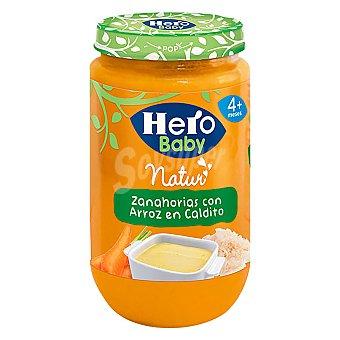 Hero Baby Tarrito de zanahorias con arroz en caldo de ave 250 g