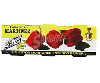 Martinez Pimientos Morrones Enteros 3 x 60 g