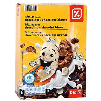 DIA Cereales pétalos de chocolate y chocolate blanco Caja 375 gr