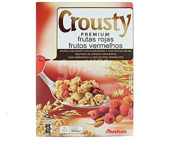 AUCHAN CROUSTY Cereales de frutas rojas auchan 500 gramos