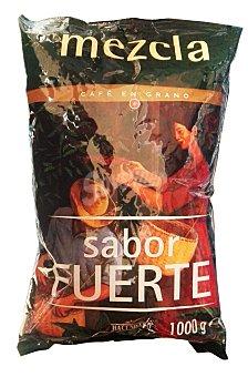Hacendado Cafe grano mezcla fuerte Paquete 1 kg