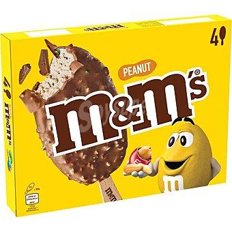 M&M's Bombón helado de chocolate y cacahuetes 4 unidades Estuche 248 g