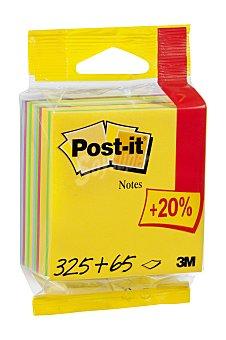 Post-It Taco de 390 notas adhesivas cuadradas de diferentes colores 1 unidad